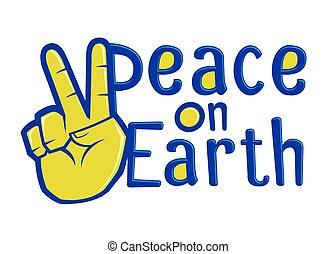 földdel feltölt, béke, nyomdászat, aláír