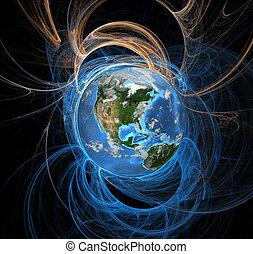 földdel feltölt, energia, megfog, nyugat