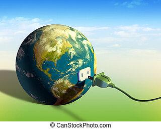 földdel feltölt, energia
