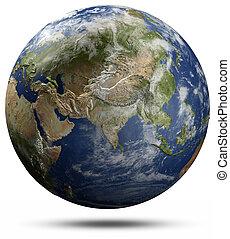 földdel feltölt földgolyó, -, ázsia
