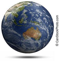 földdel feltölt földgolyó, ausztrália, -, oceania