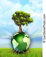 földdel feltölt, fa
