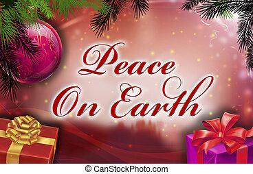 földdel feltölt, kíván, béke
