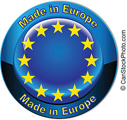 földgolyó, európa, lobogó, elkészített, gombol
