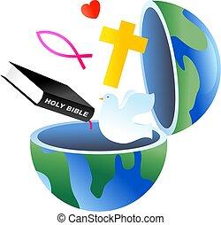 földgolyó, keresztény