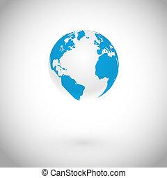 földgolyó, vektor, jelkép