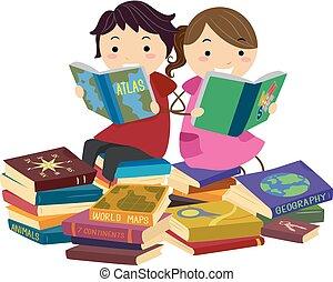 földrajz, előjegyez, stickman, felolvasás, gyerekek