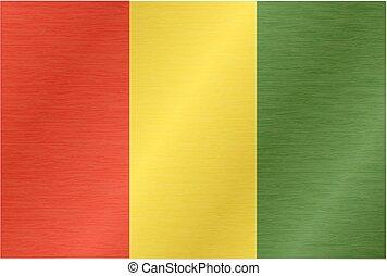 fújás, series., wind., lobogó, rész, guinean