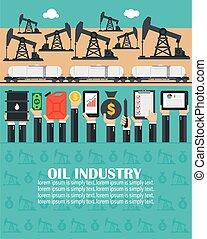 fúrás, rakomány, transportation., iparág, tervezés, motorkocsi, lakás, rig., olaj, fogalom
