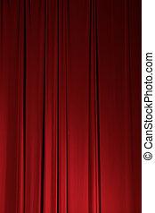 függöny, szövettel bevon, színház, fokozat, elem