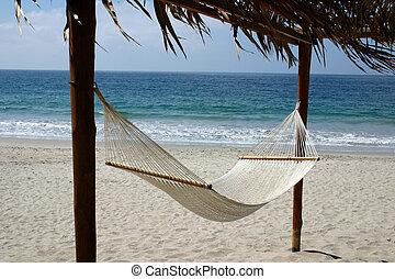 függőágy, tengerpart, csábító