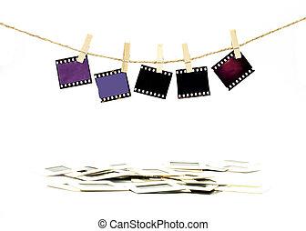 függő, szín, film