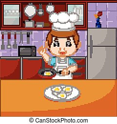 főzés, állhatatos, konyhafőnökök