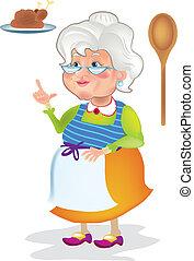 főzés, nagyanyó