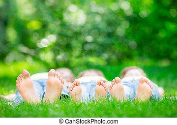 fű család, fekvő