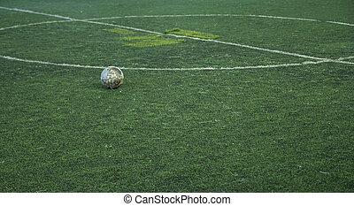 fű, foci terep, zöld, stadion, futball