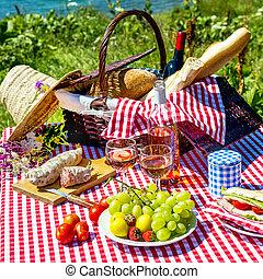 fű, piknik