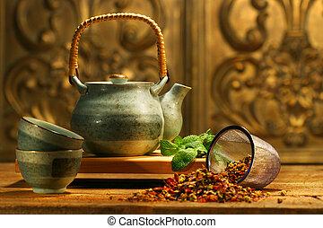 fűszernövény, ázsiai, tea