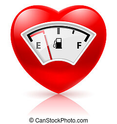 fűtőanyag, szív, indikátor
