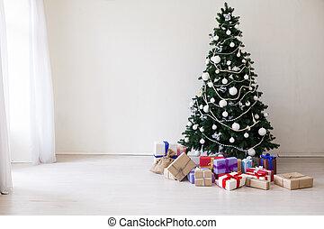 fa, ünnepek, tehetség, év, új, karácsony, boldog
