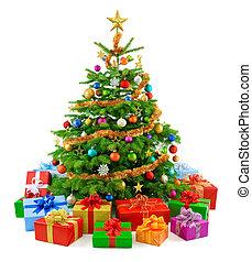 fa, buja, színes, g betű, karácsony
