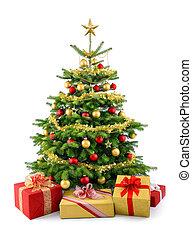 fa, dobozok, buja, karácsonyi ajándék