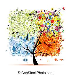 fa, -e, eredet, winter., fűszerezni, -, ősz, nyár, művészet, négy, tervezés, gyönyörű