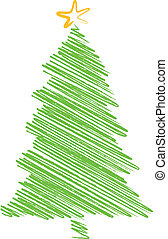 fa, firkálás, karácsony, rajz