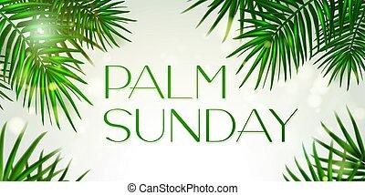 fa, háttér., -, jelkép, hét, pálma, ünnep, jeruzsálem, diadalmas, transzparens, gratulálok, először, köszönés, jámbor, sablon, zöld, vasárnap, keresztény, nap, bejárat