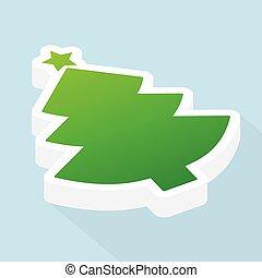 fa, karácsony, ábra, icon-, isometric, vektor