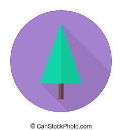 fa, karácsony, ikon, karika, árnyék, lakás, hosszú