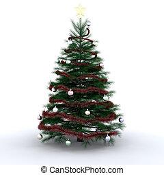fa, karácsony