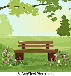 fa, menstruáció, bírói szék, liget, alatt
