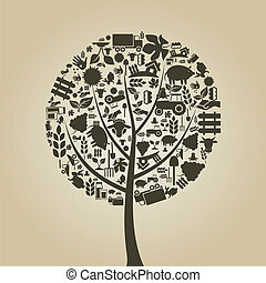 fa, mezőgazdaság