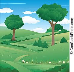 fa parkosít, természet