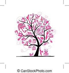 fa, tervezés, fogalom, bevásárlás, -e