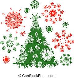 fa, tervezés, karácsony, -e