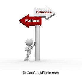 failure., vagy, siker