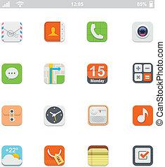 faji, smartphone, ui, ikonok