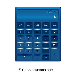 faji, számológép, vektor, elektronikus, ábra