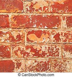 fal, barna, struktúra, háttér