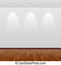 fal, fehér, erdő, szoba, üres