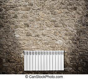 fal, felakaszt, radiátor