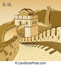 fal, nagy, kínai