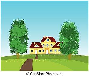 falu, természet