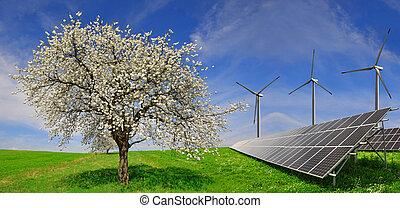 fanyergek, turbines, nap-, felteker
