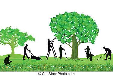 fanyesés, kertészkedés, detektívek