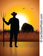 farmer, istálló, övé