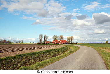 farmland, át, út, holland