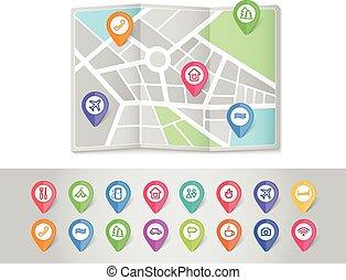 faszegek, utazás, térképészet, ikonok